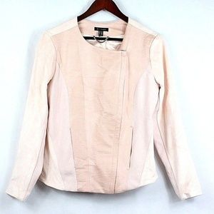 H by Halston Embossed Faux Suede Jacket